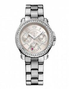 【送料無料】腕時計 ジューシークチュールステンレススチールシルバークリスタルベゼルウォッチnwt juicy couture women stainless steel crystal bezel watch in silver 1901104