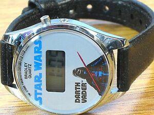腕時計 スターウォーズダースベイダーブラッドリープログラマブルstar wars darth vader bradley time character rare collectable 80s wrist watch