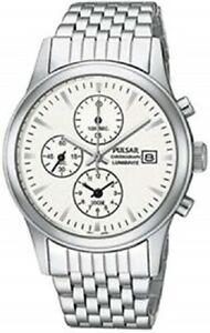 【送料無料】腕時計 ブランドメンズステンレススチールクロノグラフクオーツbrand mens stainless steel chronograph quartz watch pf8177