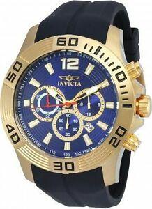 【送料無料】腕時計 メンズプロダイバーブラックラバーストラップゴールドトーン