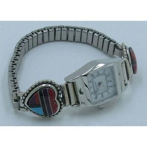 【送料無料】腕時計 プチスターリングシルバーマルチハートウォッチpetite 925 sterling silver multigemstone heart watch