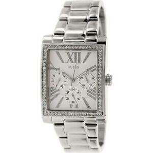 【送料無料】腕時計 シルバーステンレススチールブレスレット authentic guess silver tone stainless steel bracelet watch 36x30mm u0446l1