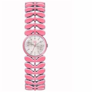 【送料無料】腕時計 ローレルステンレススチールストラップピンクウォッチシルバー¥orla kiely laurel stainless steel adjustable strap watch pink silver rrp 165