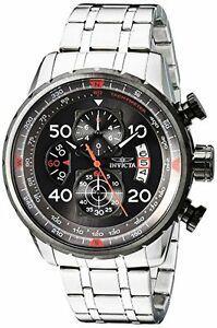 【送料無料】腕時計 メンズステンレススチールカジュアルウォッチinvicta mens aviator stainless steel casual watch