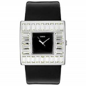 【送料無料】腕時計 ホワイトクリスタルアクセントパテントレザーウォッチ