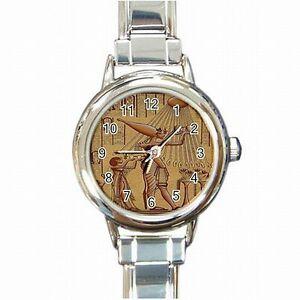 【送料無料】腕時計 エジプトレディースブレスレットウォッチakhenaten ancient egyptian temple pharoah king womens bracelet watch