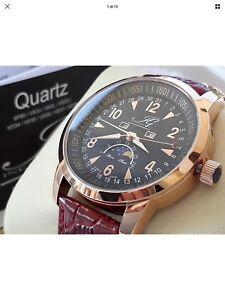 【送料無料】腕時計 イングラハム#ステンレススチールorologio uomo fasi lunari ingraham men039;s daydate stainless steel watch