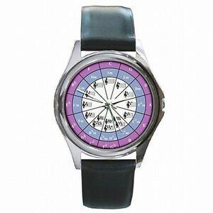 【送料無料】腕時計 ミュージシャンクロマチックスケールレザーウォッチサークルcircle of fifths musician chromatic music scale leather watch