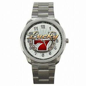 【送料無料】腕時計 ラッキーギャンブラーステンレススチールウォッチ