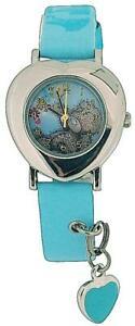【送料無料】腕時計 アナログテディストラップchildrensgirls analogue me to you tatty teddy blue strap watch with charm mty3b