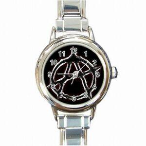 【送料無料】腕時計 アナーキーシンボルバイカーアクセサリレディースブレスレットanarchy symbol sons of anachism biker accessory womens bracelet watch