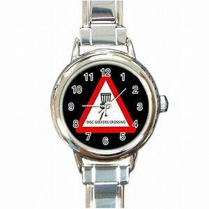 腕時計 ディスクゴルフターゲットフライングフリスビーゴルファーブレスレットdisc golf target flying frisbee frolf golfer womens bracelet watch