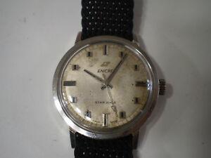 【送料無料】腕時計 スタージュエルビンテージメッカニマニュアルenicar star jewel vintage meccanico manuale uomo 34 mm