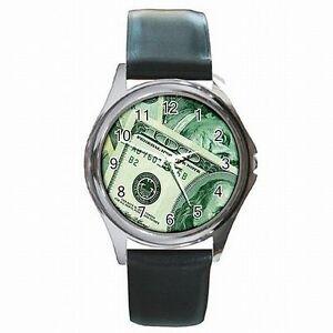 【送料無料】腕時計 ドルドルヒモhundred dollar bills 100 money pimp costume leather watch