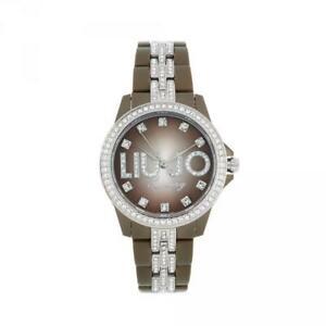 【送料無料】腕時計 ラグジュアリーリュジョドーナスワロフスキーorologio donna liu jo luxury celebrity tlj364 caff policarbonato swarovski