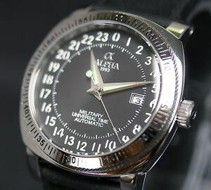 【送料無料】腕時計 アルファユニバーサルウォッチalpha military universal time automatic watch brand pnr24hr