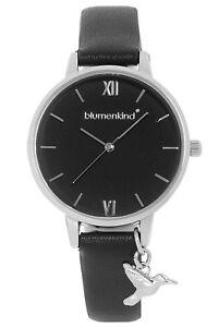 【送料無料】腕時計 レディースシルバーブラックblumenkind damenuhr silberschwarz 20021988sbkpbk