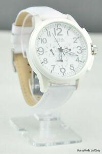 【送料無料】腕時計 ホワイトレザーマルチウォッチnwt watch guess white leather multifunction u11658g1