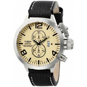 【送料無料】腕時計 レザークロノグラフウォッチinvicta corduba 3449 leather chronograph watch