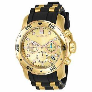【送料無料】腕時計 プロダイバーkゴールドステンレススチールクロノグラフウォッチinvicta mens pro diver 18k gold ionplated stainless steel chronograph watch