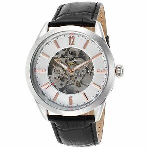 【送料無料】腕時計 #シルバースチールケースブラックストラップ