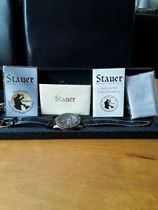 【送料無料】腕時計 パイロットウオッチメーカーmens stauer pilots wristwatch used but in very very good condition