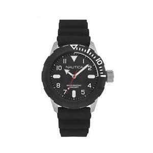 【送料無料】腕時計 シリコーンサブメートルマニュアルorologio uomo nautica nad09519g silicone nero sub 100mt man