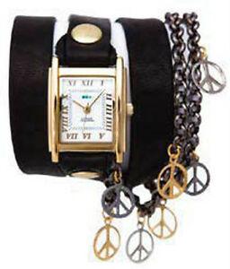 【送料無料】腕時計 ブラックマルチウォッチラップ