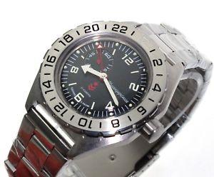 【送料無料】腕時計 ヴォストークロシアウォッチvostok komandirskie russian military watch gmt 650539