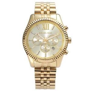 【送料無料】腕時計 ミハエルレキシントンクロノグラフゴールドトーンメンズウォッチmichael kors mk8281 gold tone mens lexington chrono watch 2 year warranty