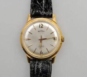 【送料無料】腕時計 ビンテージゴールドbutex vintage 195863 gold automatic 35mm exc keeps time