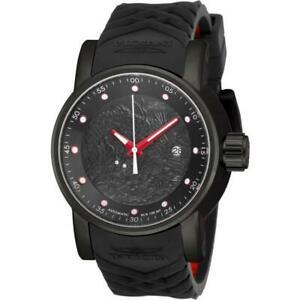 【送料無料】腕時計 ラリーメンズブラックラウンドアナログドラゴン