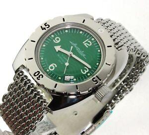 【送料無料】腕時計 ヴォストークダイバーウォッチサブvostok amphibia diver watch 200m sub orologio russo 150348