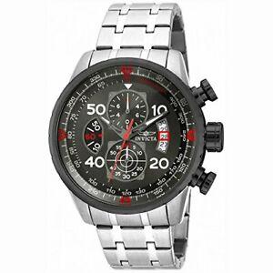 【送料無料】腕時計 ステンレススチールクロノグラフウォッチinvicta aviator 17204 stainless steel chronograph watch