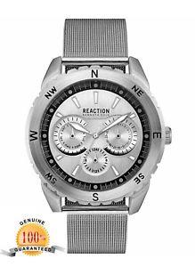 【送料無料】腕時計 ケネスメンズステンレススチールメッシュブレスレットウォッチkenneth cole reaction mens stainless steel mesh bracelet watch 10030937 5300