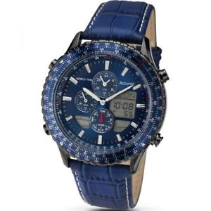 【送料無料】腕時計 アナログデジタルワールドタイムストラップウォッチaccurist ms1036nn gents analoguedigital world time strap watch rrp 29999