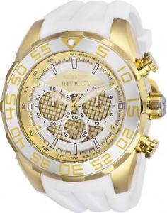 【送料無料】腕時計 メンズスピードウェイクロノグラフステンレススチールホワイトシリコンウォッチinvicta mens speedway chrono 100m stainless steelwhite silicone watch 26303