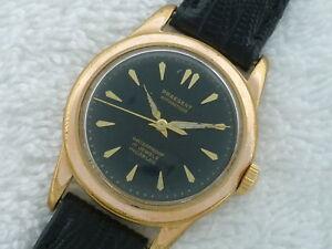 【送料無料】腕時計 サンバーストゴールドスチールサービススイスsunburst praesent automatic 17 jewels gold amp; steel serviced watch swiss made
