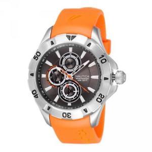 【送料無料】腕時計 シリコーンオレンジorologio uomo nautica nst 06 a14612g multifunzione silicone arancione grigio