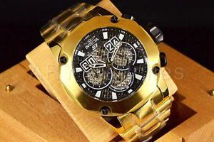 【送料無料】腕時計 ラリーゴールドブラックツイストメタルステンレススチールブレスレット