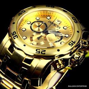 【送料無料】腕時計 プロダイバースキューバスチールブレスレットクロノグラフウォッチinvicta pro diver scuba 18kt gold plated steel bracelet chronograph watch