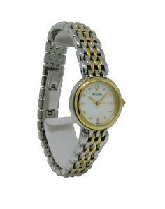 【送料無料】腕時計 ラウンドパールステンレススチールアナログbulova 98l150 womens round analog mother of pearl stainless steel watch