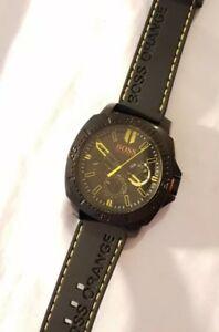 【送料無料】腕時計 ヒューゴボスボスオレンジメンズマルチファンクションブラックイエロー