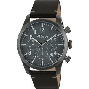 【送料無料】腕時計 クラシックウォッチグラフィカルorologio breil tribe classic elegance ew0360 pelle nera watch grigio cronografo