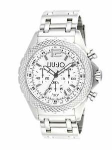 【送料無料】腕時計 リュジョダービーグラフィカルorologio liujo uomo tlj833 derby crono acciaio silver originale cronografo