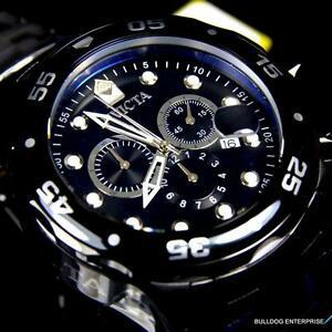 【送料無料】腕時計 プロスキューバダイバークロノグラフミリブラックステンレススチール