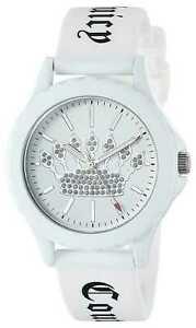 【送料無料】腕時計 ジューシークチュールレディースホワイトシリコンストラップホワイトjuicy couture womens white silicone strap white jc1001wtwt watch 5