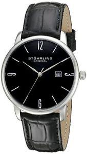 【送料無料】腕時計 オリジナルメンズステンレススチールアスコットレザーウォッチstuhrling original mens 997l 02 ascot stainless steel date leather watch