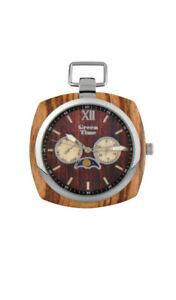 【送料無料】腕時計 ウォッチorologio da tasca green time zw049e watch wood uomo legno fasi lunari taschino