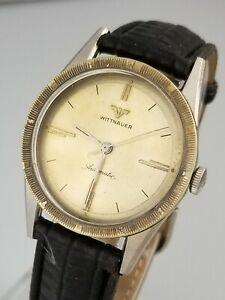 【送料無料】腕時計 メンズビンテージウィットウォッチリブドベゼルvintage wittnauer 11sn automatic mens wrist watch ribbed bezel runs good